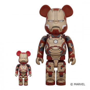 BE@RBRICK IRON MAN MARK XLII (42) 400% / 1000%