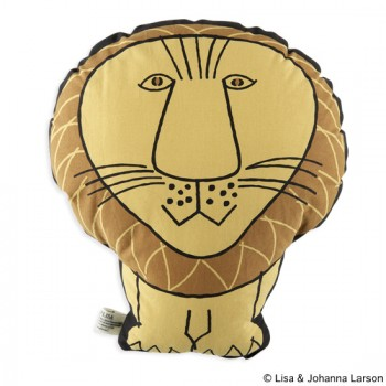 "PLUSH CUSHION ""LION"""