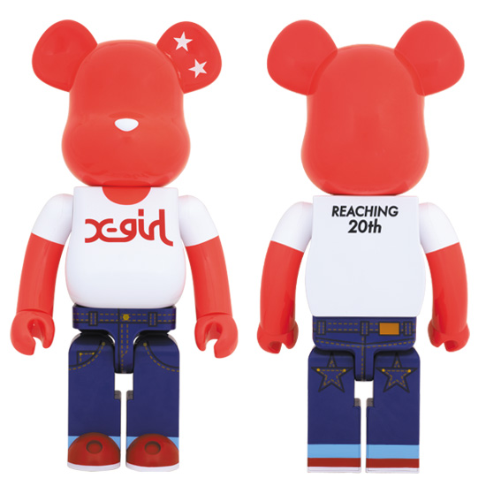 X-girl BE@RBRICK 1000%