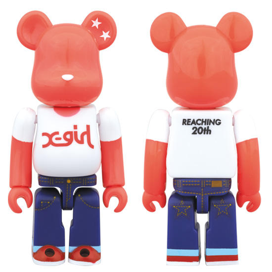 X-girl BE@RBRICK 100%