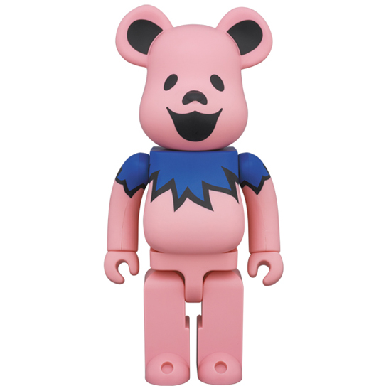 BE@RBRICK GRATEFUL DEAD DANCING BEARS PINK 400%