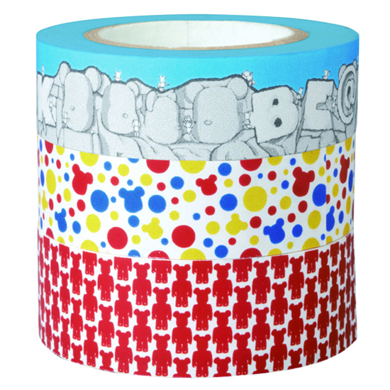 BE@RBRICK masking tape 3-pack CORPS/MONUMENT/POLCADOT 2