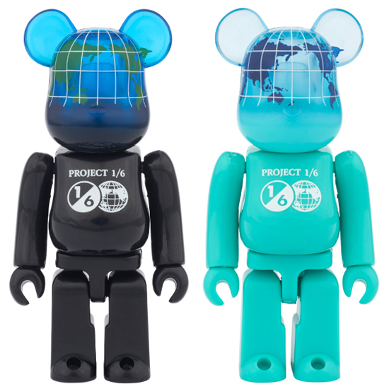 BE@RBRICK EARTH 100%(COSMIC BLACK/OCEAN BLUE)