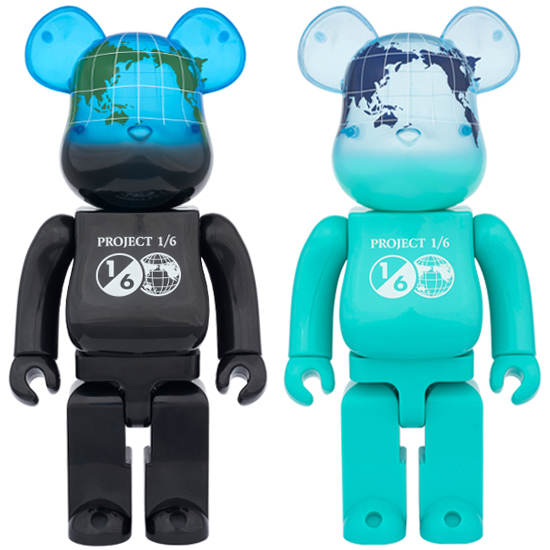 BE@RBRICK EARTH 400% COSMIC BLACK/OCEAN BLUE