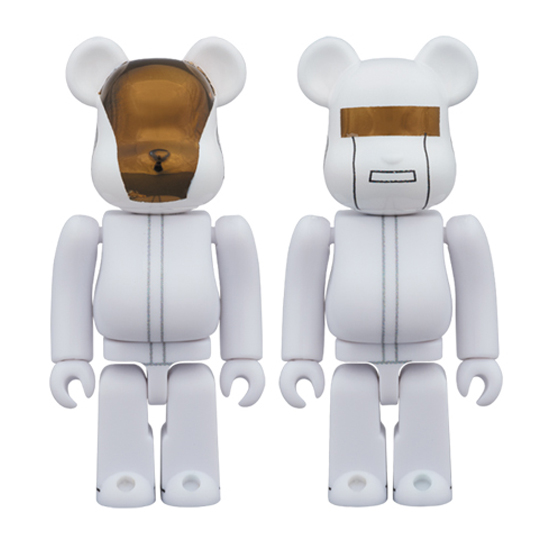 BE@RBRICK DAFT PUNK (WHITE SUITS Ver.) 2 PACK GUY-MANUEL de HOMEM-CHRISTO/ THOMAS BANGALTER 100%