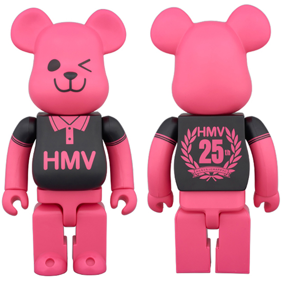 BE@RBRICK HMV BLACK POLO 400% 25th Anniversary Ver.