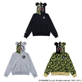 BAPE® CAMO SHARK BE@R FULL ZIP HOODIE