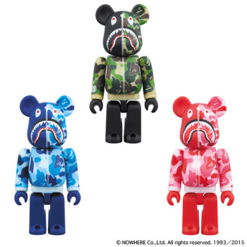 BAPE® CAMO SHARK BE@RBRICK 100%