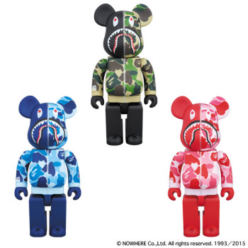 BAPE® CAMO SHARK BE@RBRICK 400%