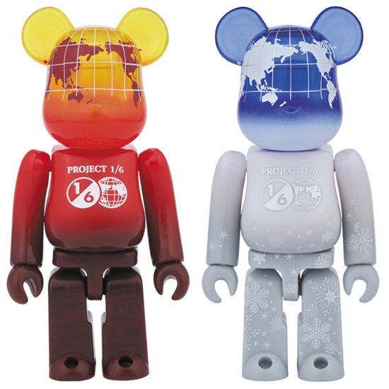 BE@RBRICK EARTH 100%(VOLCANO RED/SNOW WHITE)