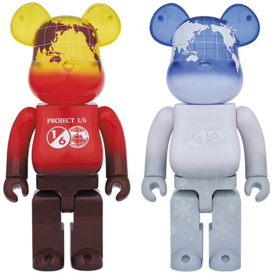 BE@RBRICK EARTH 400% VOLCANO RED / SNOW WHITE