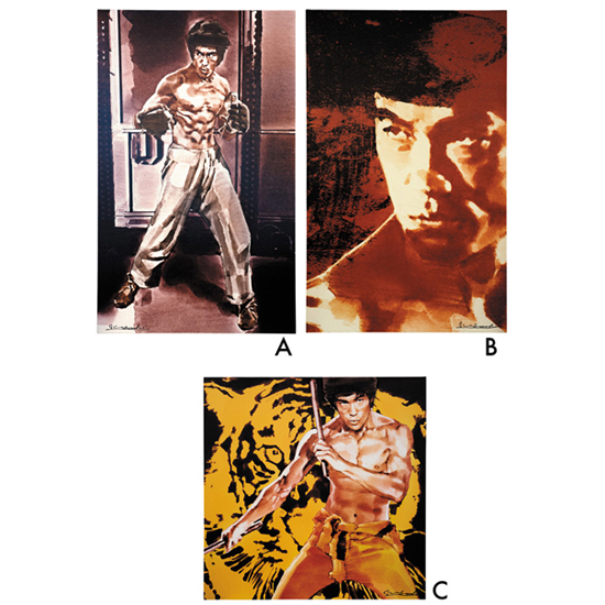 YOSHI SUGAHARA CANVAS ART THEATER act.1 「BRUCE LEE」 「The Jeet Kune Do Man」Remaster 2015 (ジークンドーマン) (A) 「His Real Face」Remaster 2015 (リアルフェイス) (B) 「The Yellow Faced Tiger」Remaster 2015 (黄面虎) (C)