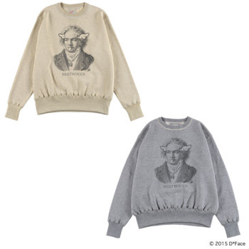 "CREW NECK SWEAT ""BEETHOVEN"" × TOYS McCOY"