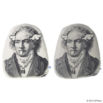 "PLUSH CUSHION ""BEETHOVEN"""