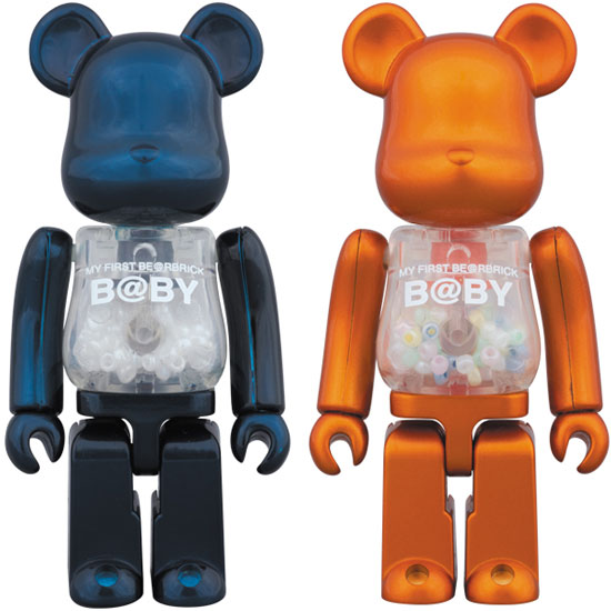 MY FIRST BE@RBRICK B@BY 100%(Pearl Navy Ver.) MY FIRST BE@RBRICK B@BY 100%(Pearl Orange Ver.)