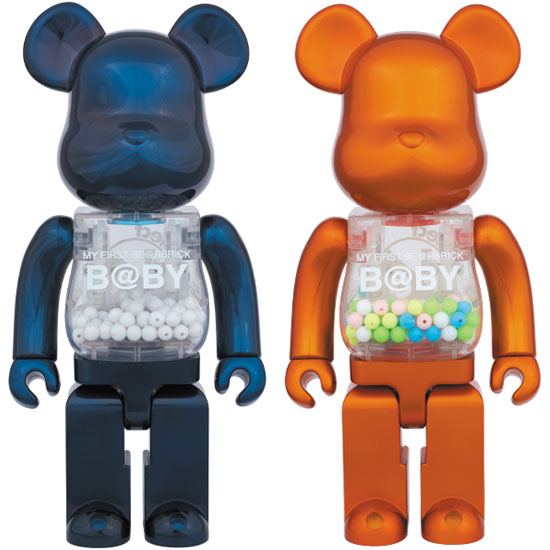 MY FIRST BE@RBRICK B@BY Pearl Navy Ver./Pearl Orange Ver. 400%