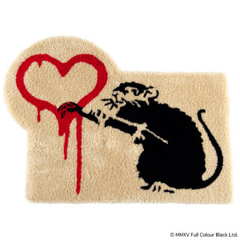 "RUG MAT ""LOVE RAT"""