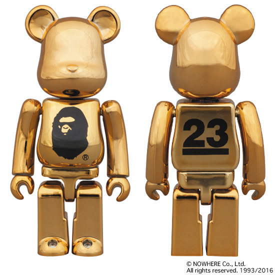 A BATHING APE® / NOWHERE 23th anniv. GOLD BE@RBRICK