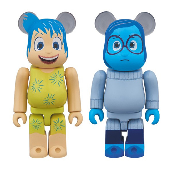 BE@RBRICK JOY & SADNESS 2PACK