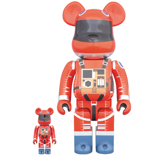 BE@RBRICK SPACE SUIT ORANGE Ver.100% & 400%