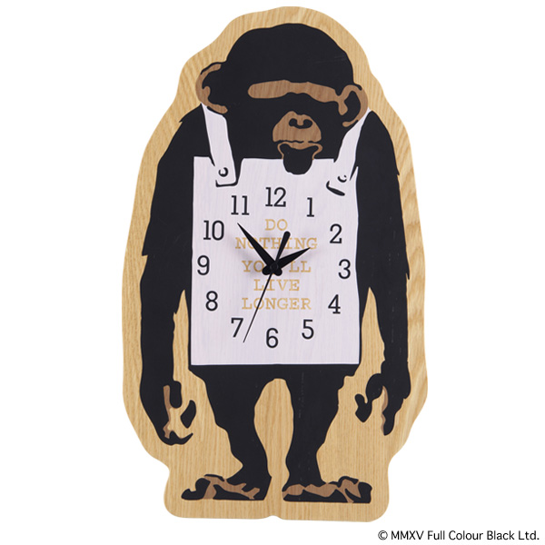 "WALL CLOCK ""MONKEY SIGN"" x KARIMOKU"