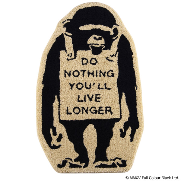 "RUG MAT ""MONKEY SIGN"""