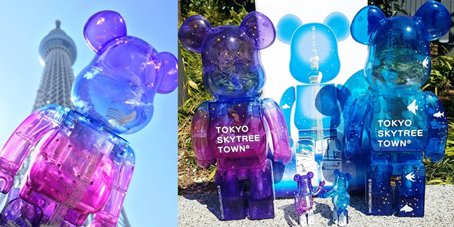 Medicom 100/% Bearbrick ~ Sky Tree Town Be@rbrick Night Version