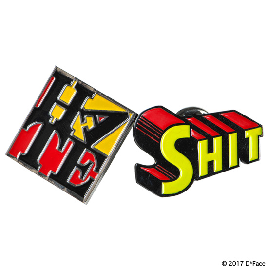 "PIN BADGES SET ""SHIT & HATE"""