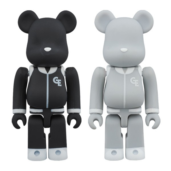 "BE@RBRICK GOODENOUGH ""Classics"" 100% BLACK/GRAY"
