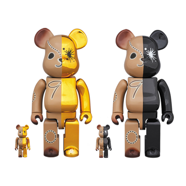 BE@RBRICK MIHARAYASUHIRO 100%&400% GOLD×BROWN/BLACK×BROWN