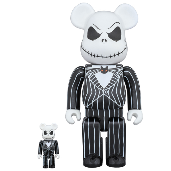 BE@RBRICK Jack Skellington 100% & 400%