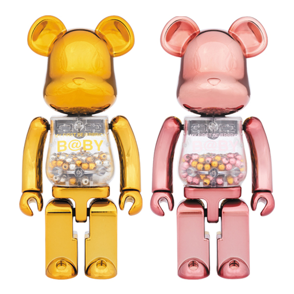 超合金 MY FIRST BE@RBRICK GOLD & SILVER Ver./PINK & GOLD Ver.