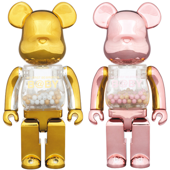 MY FIRST BE@RBRICK B@BY GOLD & SILVER Ver./ PINK & GOLD Ver. 400%