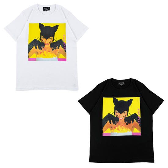 "VINYL ""BLACK CATS"" TEE HEAT WAVE"
