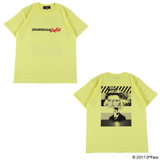 "TEE ""UNAMERICAN GRAFFITI"" LIGHT YELLOW"