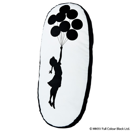 "PLUSH CUSHION ""FLYING BALLOONS GIRL"""