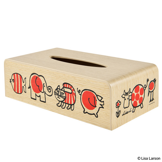 "TISSUE BOX ""BABY MIKEY AND FRIENDS"" x SAITO WOOD"
