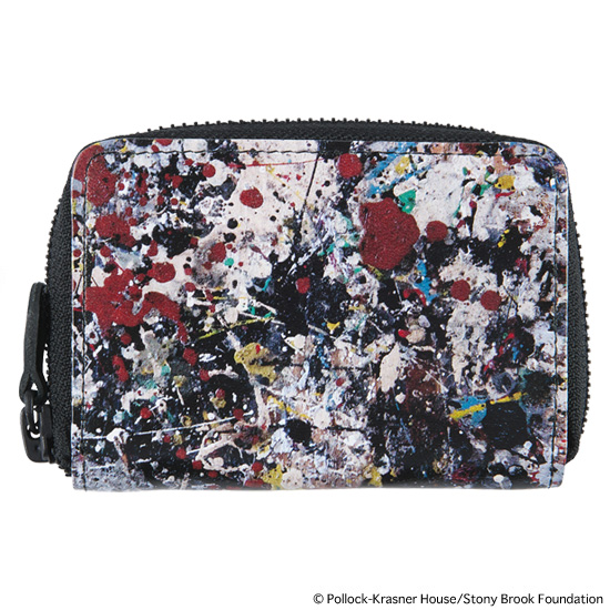 "LEATHER COIN CASE ""JACKSON POLLOCK 2"""