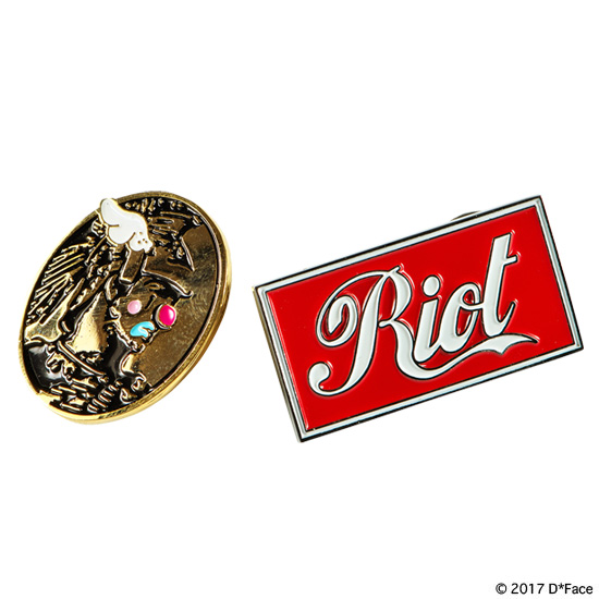 "PINS SET ""AMERICAN DEPRESS""&""RIOT"""