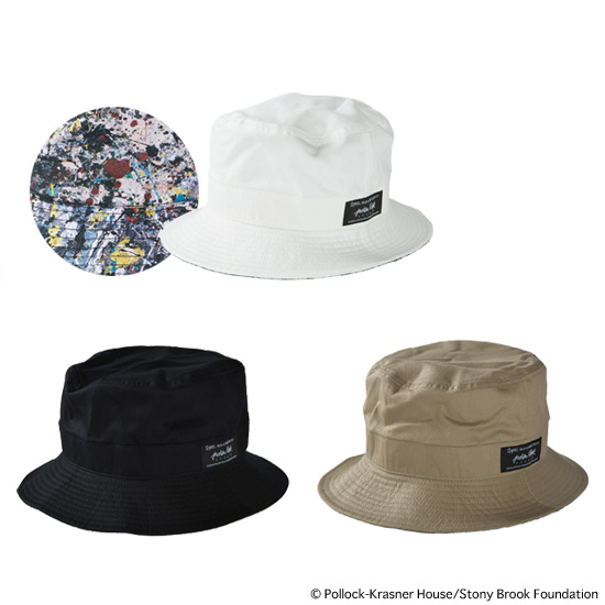"REVERSIBLE BUCKET HAT ""JACKSON POLLOCK 2"""
