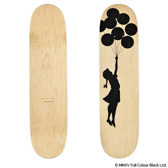 "SKATEBOARD DECK ""FLYING BALLOONS GIRL"""