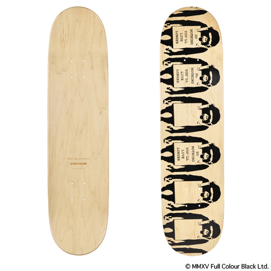 "SKATEBOARD DECK ""MONKEY SIGN"""