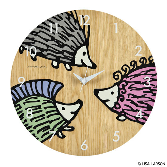 "WALL CLOCK ""HEDGEHOG BROTHERS"" x KARIMOKU"