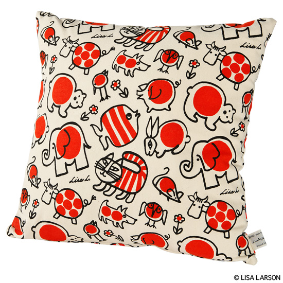 "SQUARE CUSHION ""BABY MIKEY AND FRIENDS"""