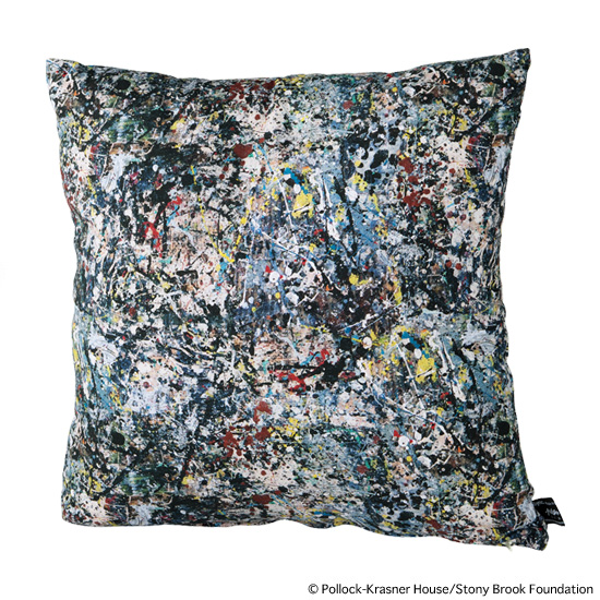"SQUARE CUSHION ""JACKSON POLLOCK 2"""