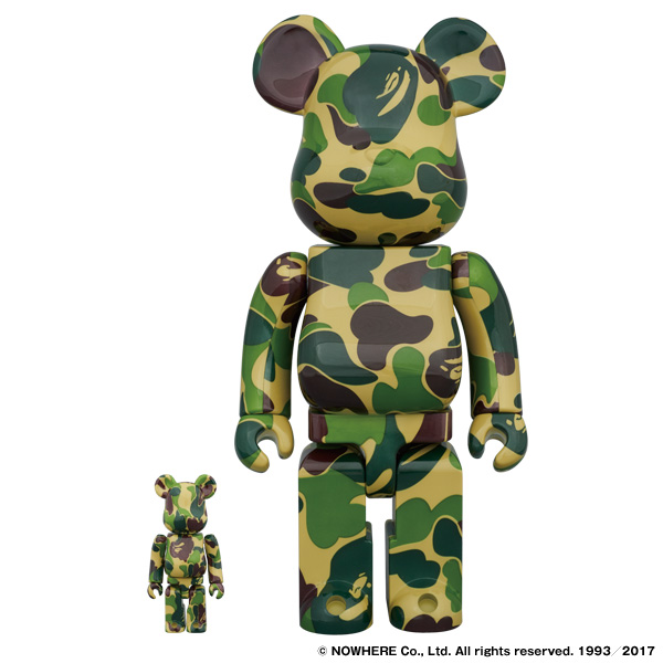 ABC BE@RBRICK 100% & 400% SET(GREEN)