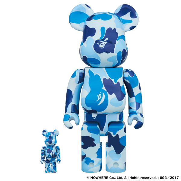 ABC BE@RBRICK 100% & 400% SET(BLUE)