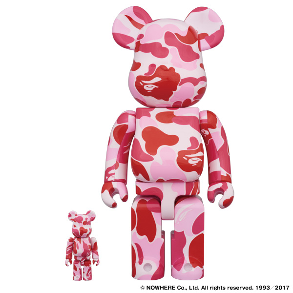 ABC BE@RBRICK 100% & 400% SET(PINK)