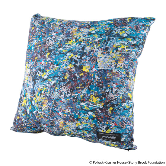 "SQUARE CUSHION ""JACKSON POLLOCK"""