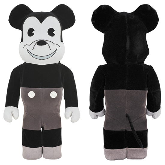 BE@RBRICK MICKEY MOUSE (VINTAGE B&W Ver.) 1000%